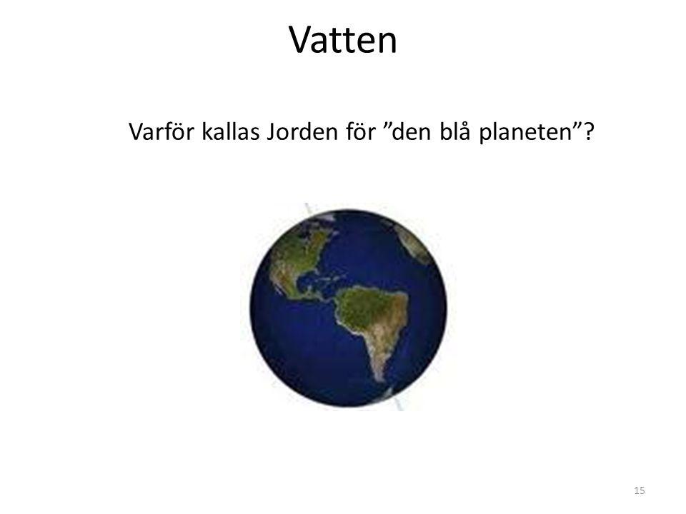 Vatten Varför kallas Jorden för den blå planeten