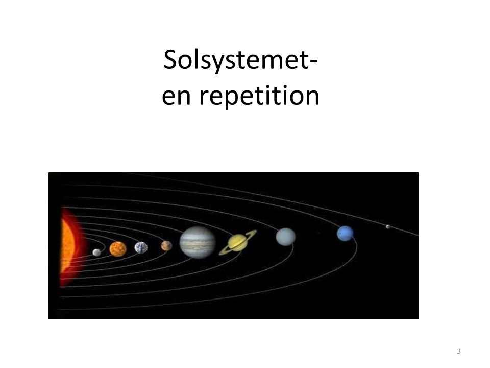 Solsystemet- en repetition