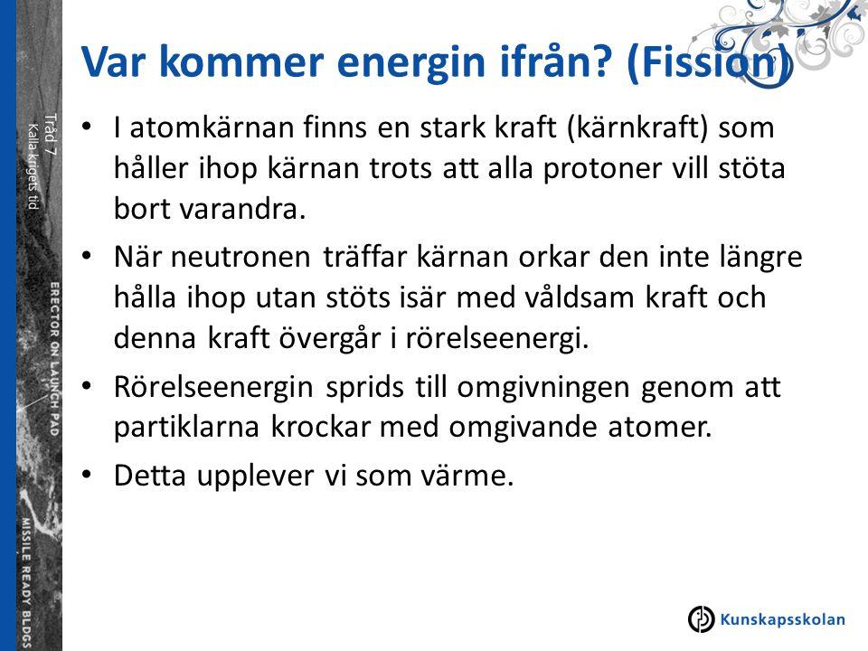 Var kommer energin ifrån (Fission)