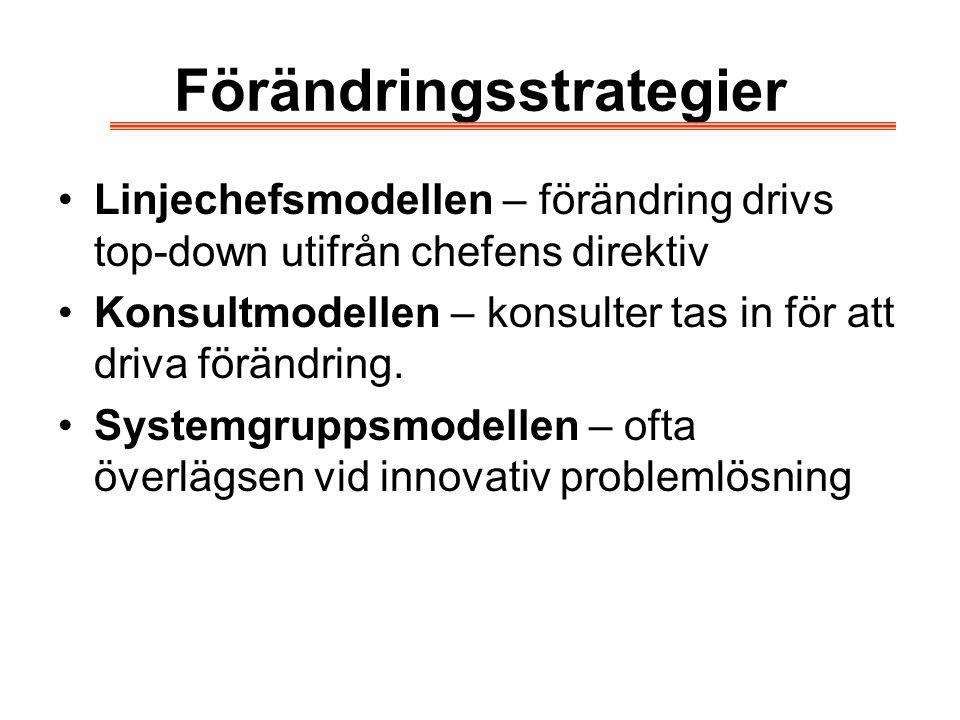 Förändringsstrategier