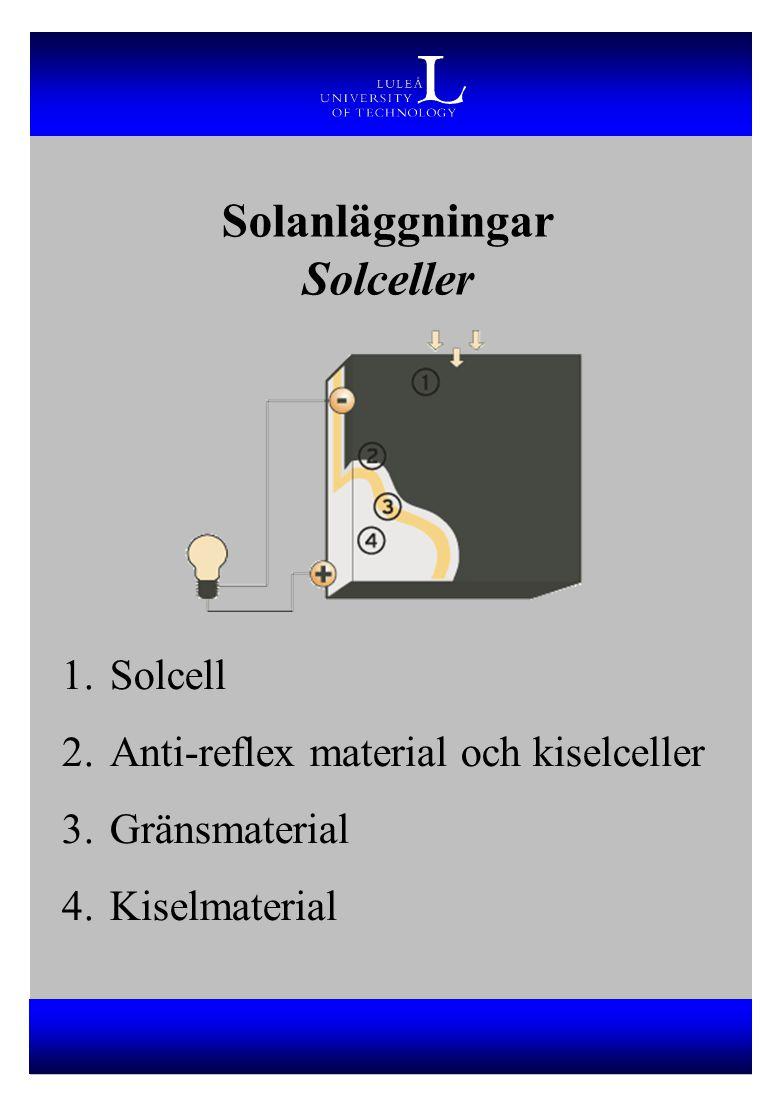 Solanläggningar Solceller