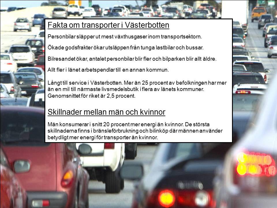 Fakta om transporter i Västerbotten