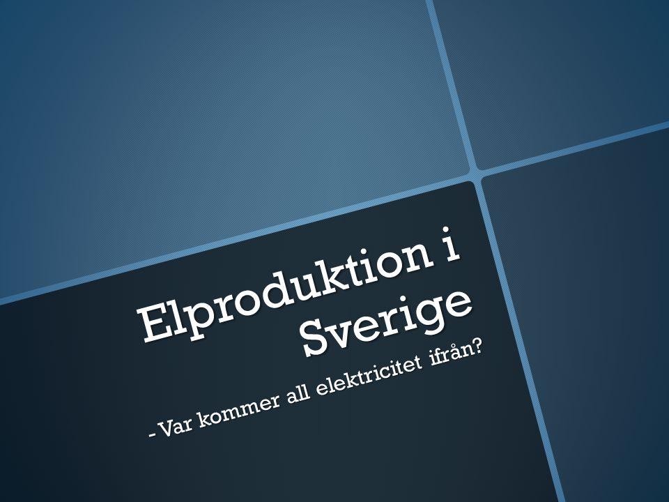 Elproduktion i Sverige