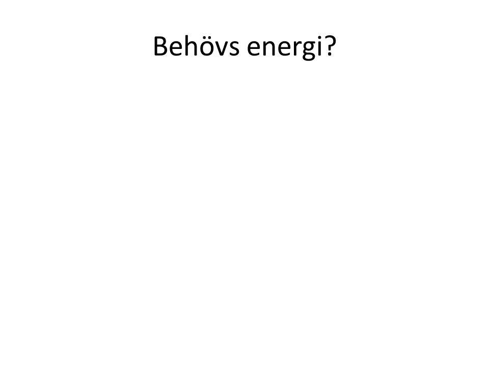 Behövs energi