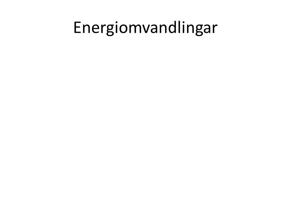 Energiomvandlingar