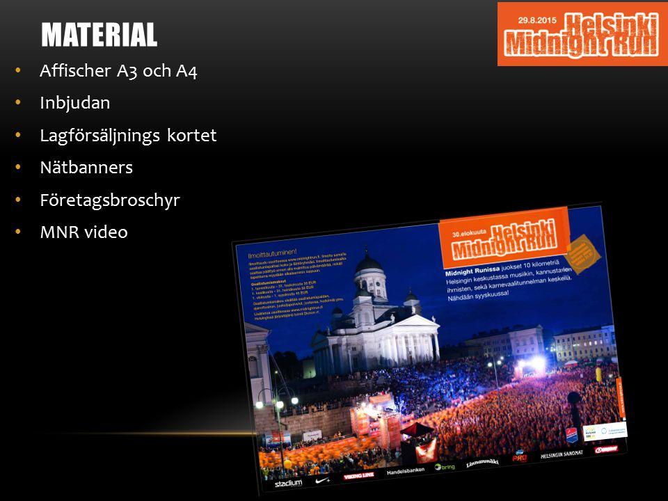 MATERIAL Affischer A3 och A4 Inbjudan Lagförsäljnings kortet