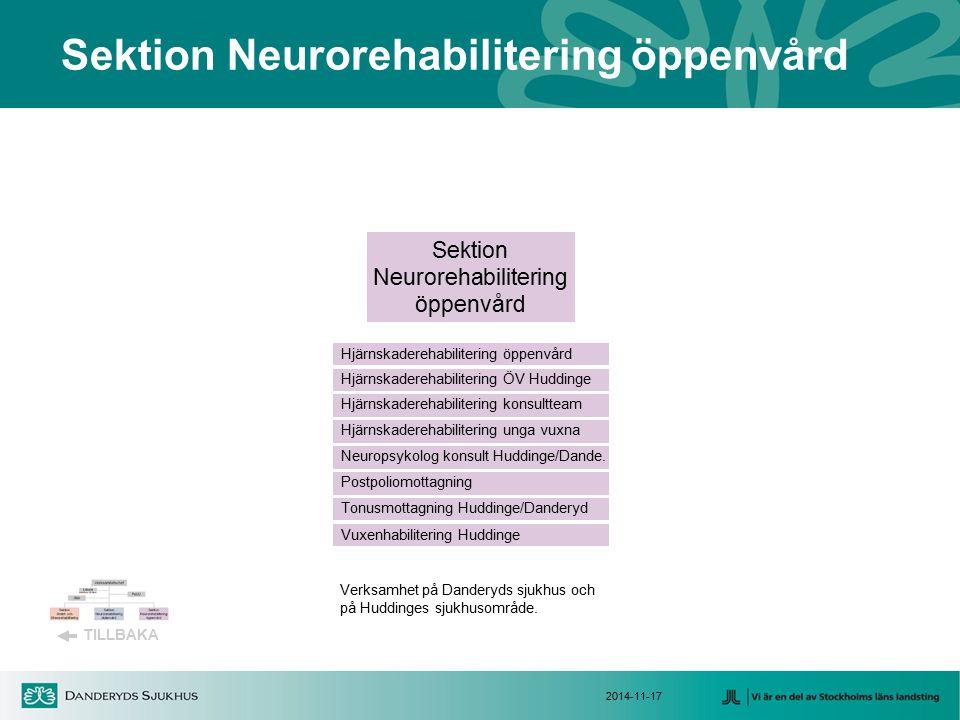 Sektion Neurorehabilitering öppenvård