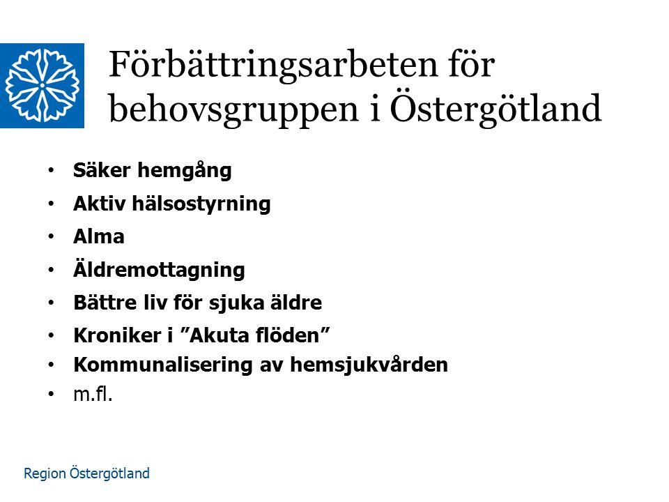 Förbättringsarbeten för behovsgruppen i Östergötland