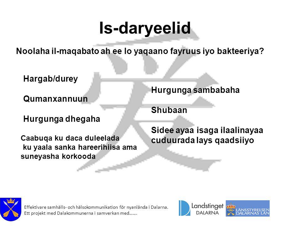 Is-daryeelid Noolaha il-maqabato ah ee lo yaqaano fayruus iyo bakteeriya Hargab/durey. Qumanxannuun.