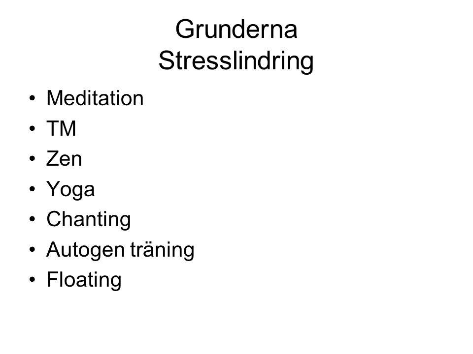 Grunderna Stresslindring