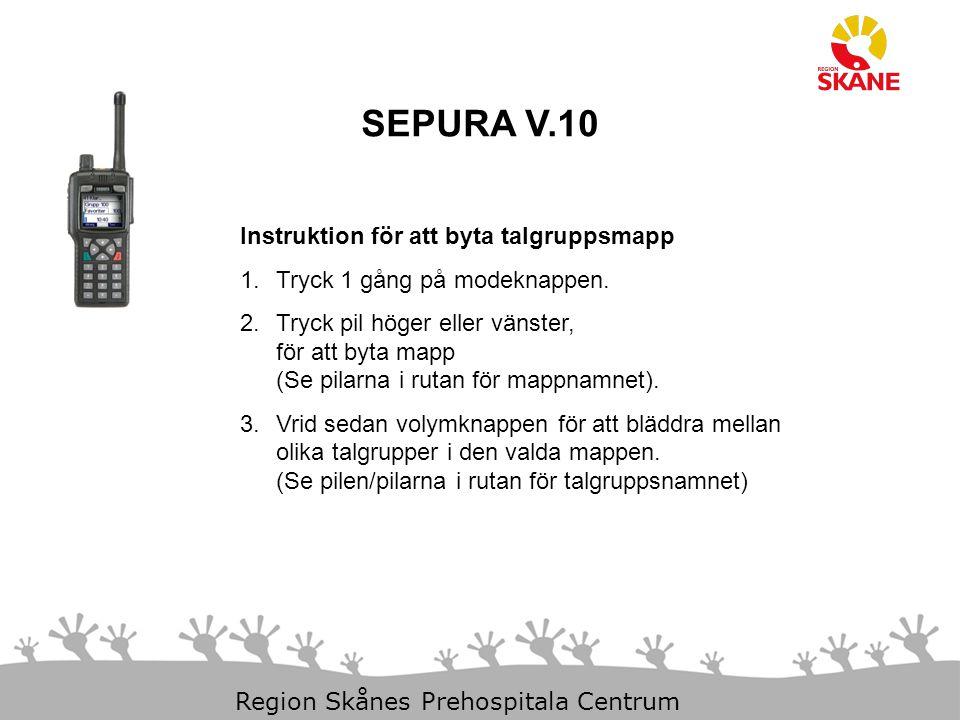 SEPURA V.10 Instruktion för att byta talgruppsmapp