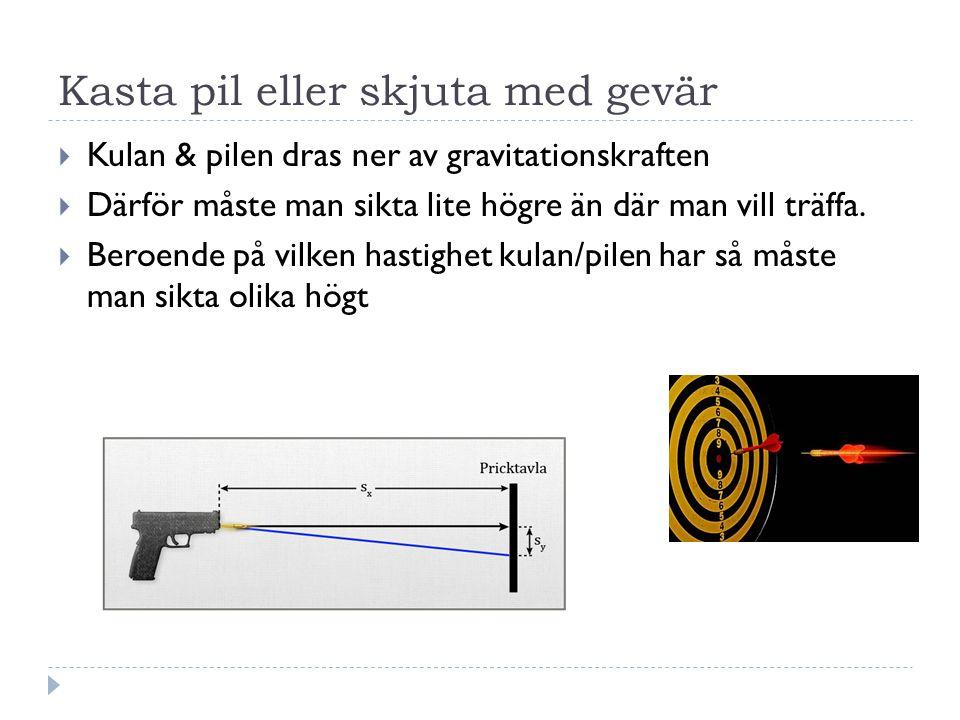 Kasta pil eller skjuta med gevär