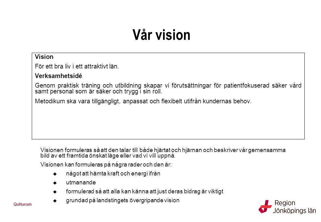 Vår vision Vision För ett bra liv i ett attraktivt län. Verksamhetsidé
