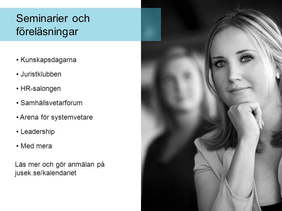 Seminarier och föreläsningar Kunskapsdagarna Juristklubben HR-salongen