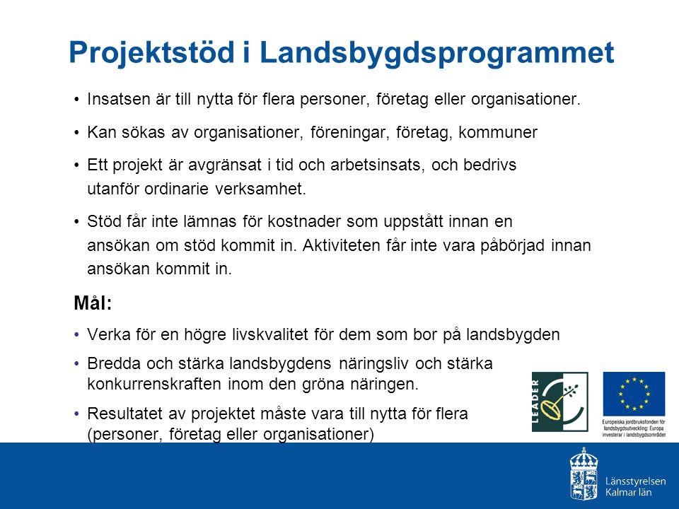 Projektstöd i Landsbygdsprogrammet
