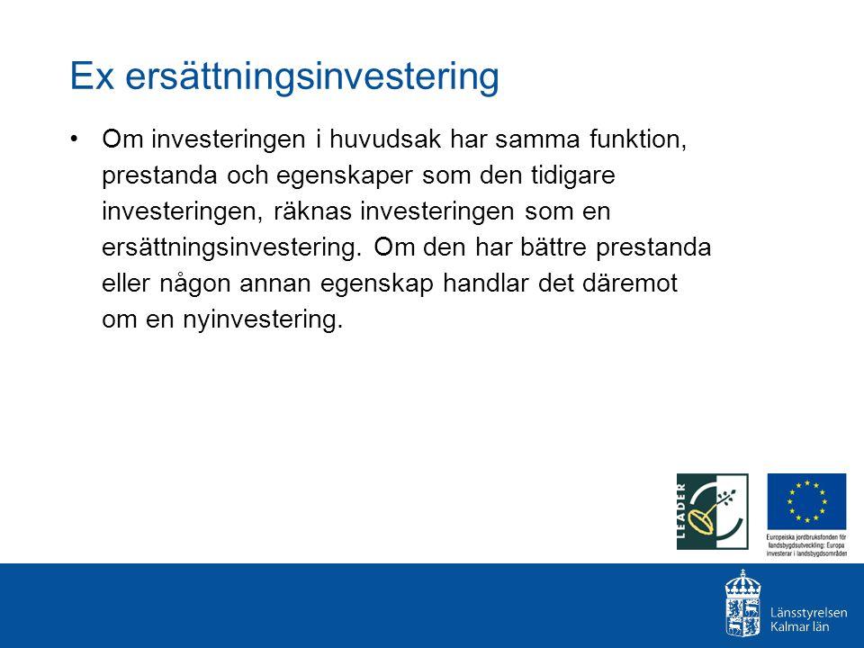 Ex ersättningsinvestering