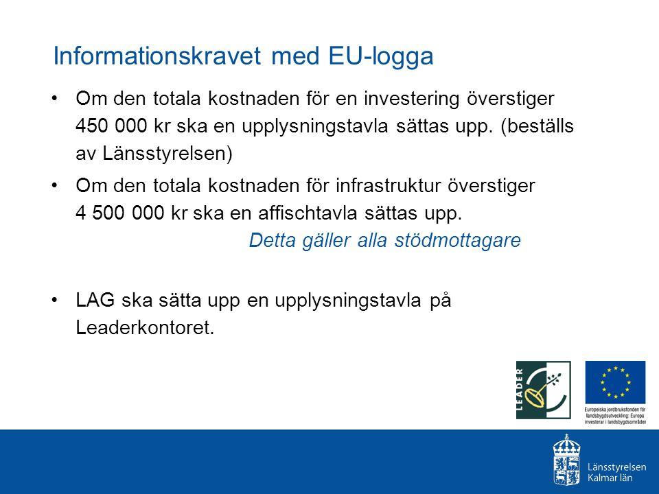 Informationskravet med EU-logga