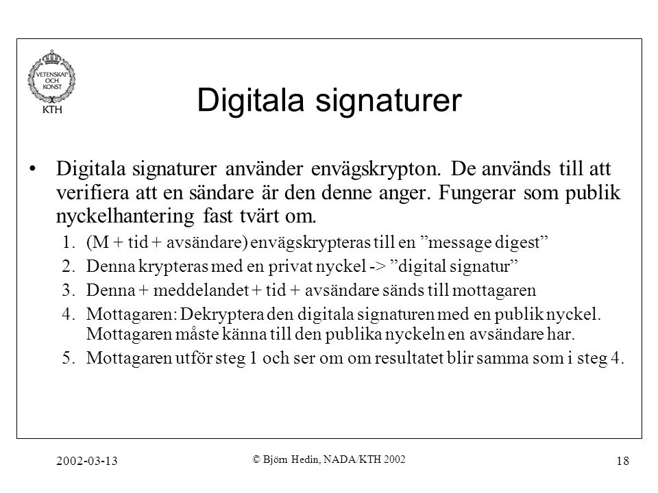 Digitala signaturer