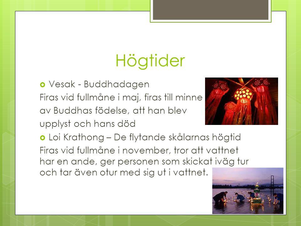 Högtider Vesak - Buddhadagen