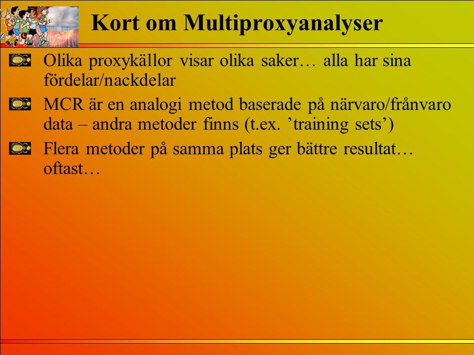 Kort om Multiproxyanalyser