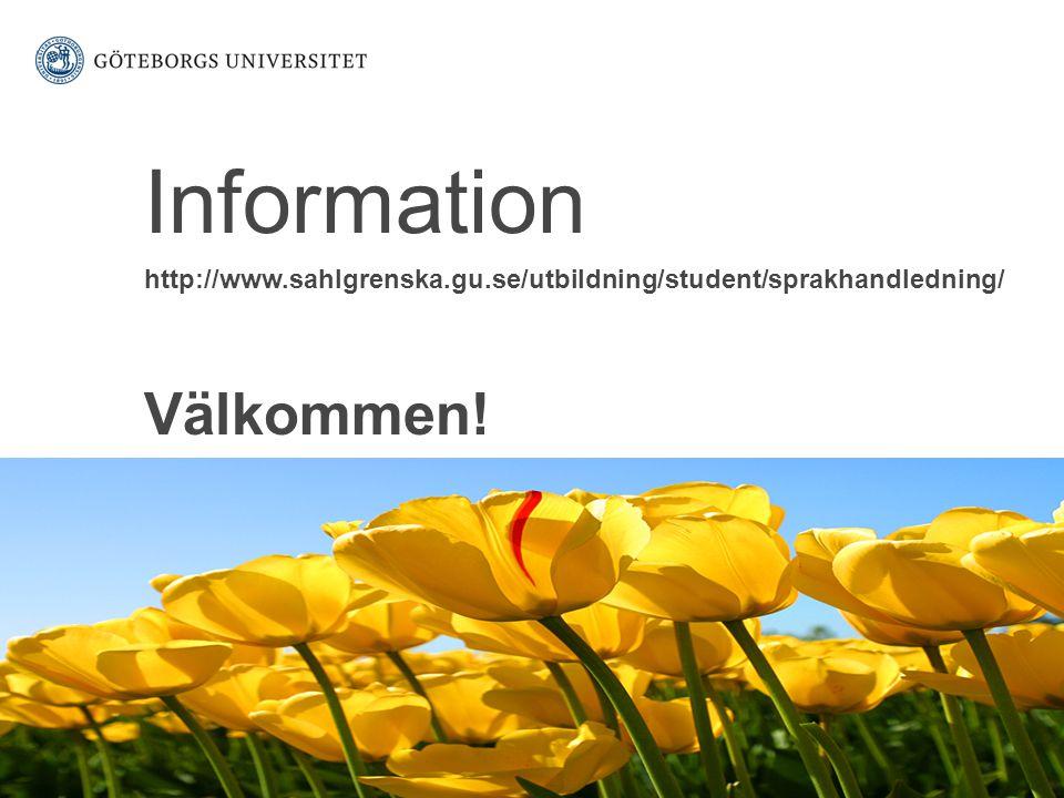 Information Välkommen!