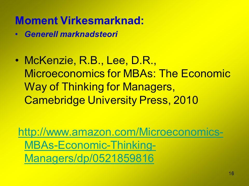 Moment Virkesmarknad: