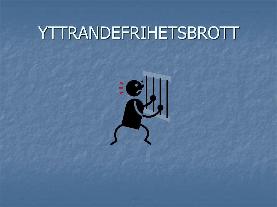 YTTRANDEFRIHETSBROTT