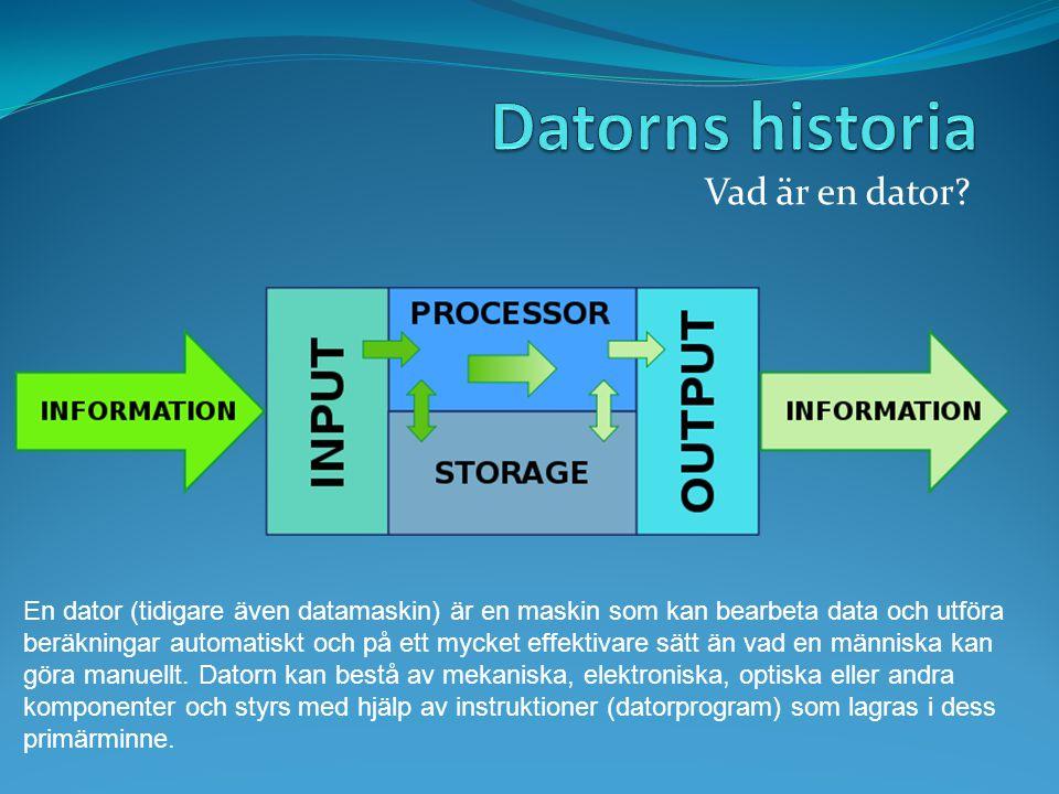 Datorns historia Vad är en dator
