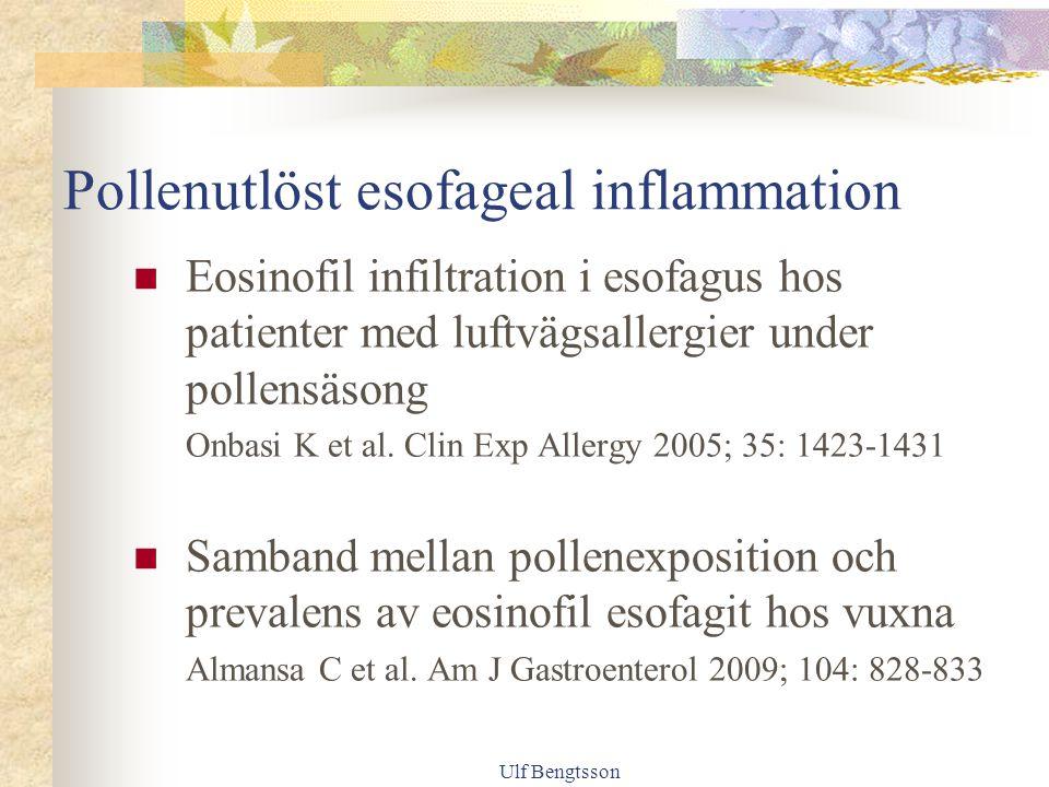 Pollenutlöst esofageal inflammation