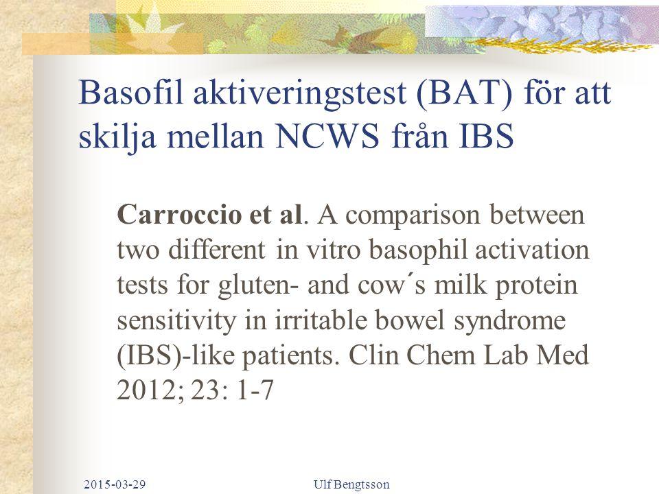 Basofil aktiveringstest (BAT) för att skilja mellan NCWS från IBS