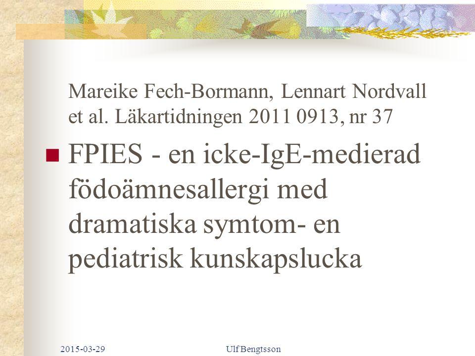 Mareike Fech-Bormann, Lennart Nordvall et al