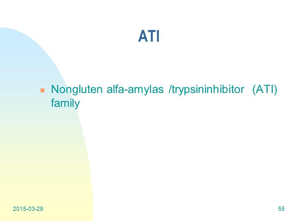 ATI Nongluten alfa-amylas /trypsininhibitor (ATI) family 2017-04-08