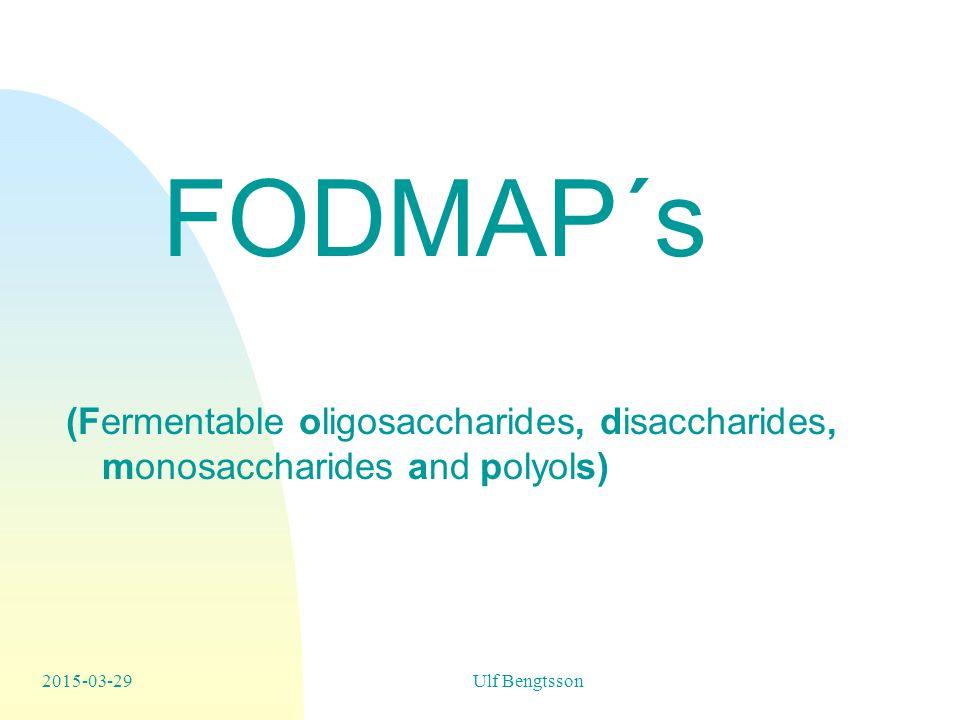 FODMAP´s (Fermentable oligosaccharides, disaccharides, monosaccharides and polyols)