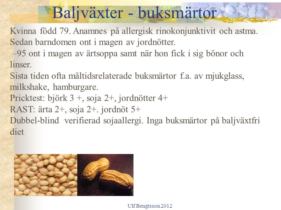 Baljväxter - buksmärtor