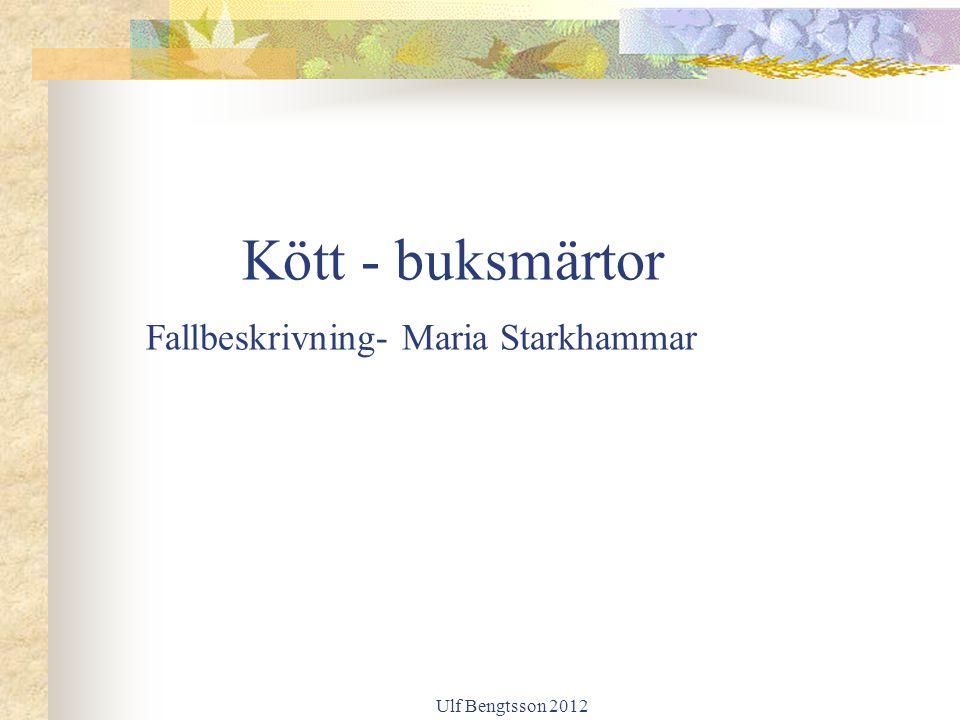 Kött - buksmärtor Fallbeskrivning- Maria Starkhammar