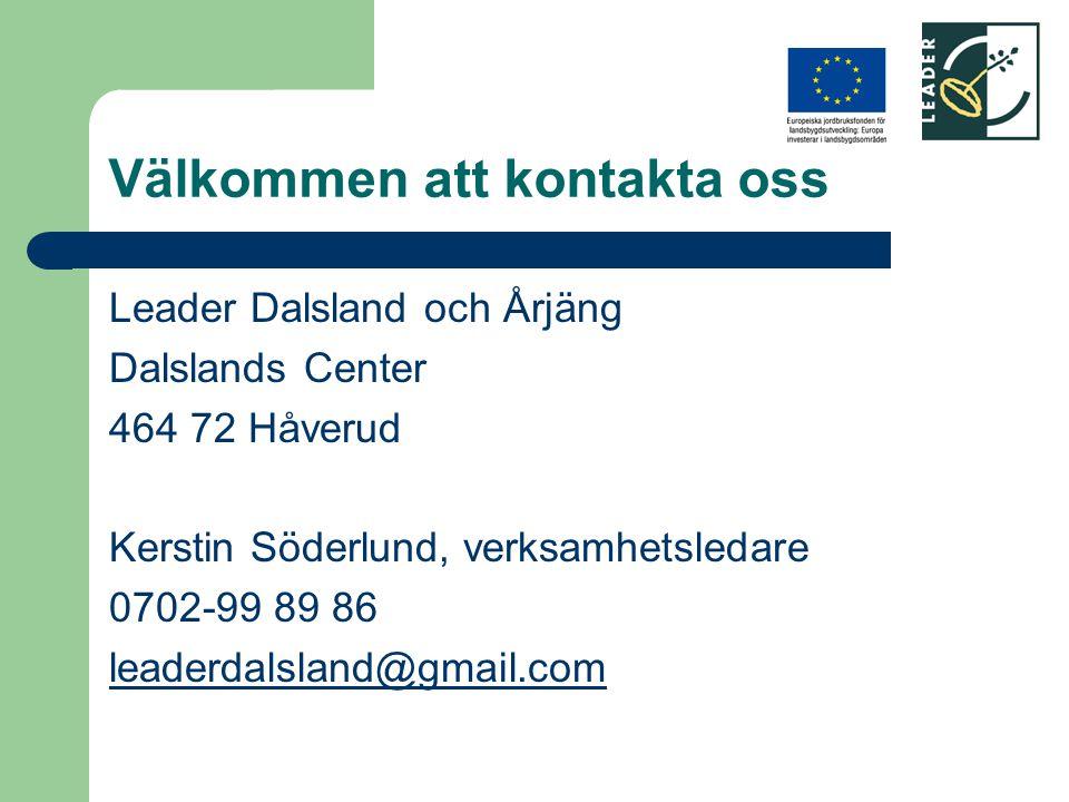 Välkommen att kontakta oss