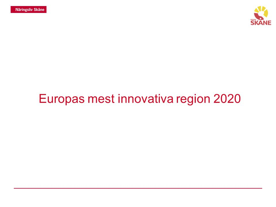 Europas mest innovativa region 2020