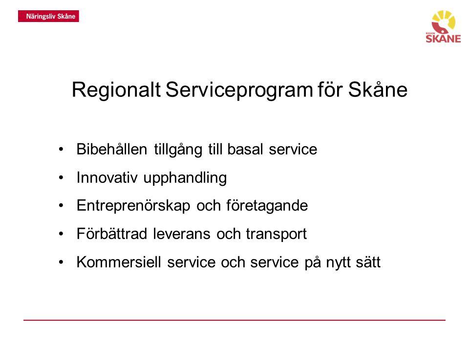 Regionalt Serviceprogram för Skåne