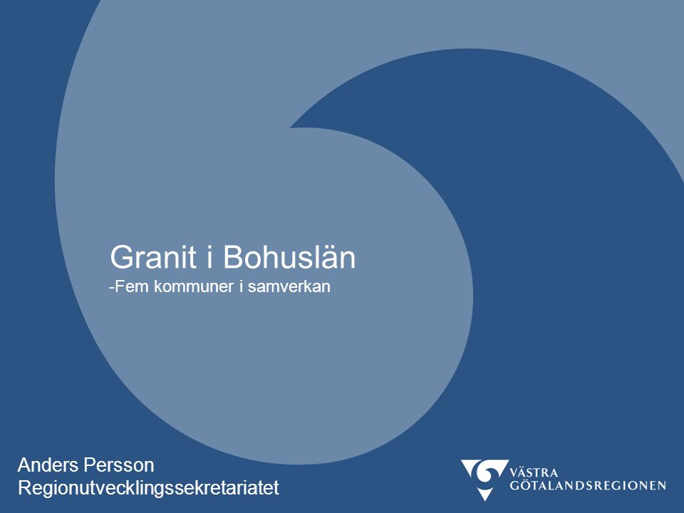 Granit i Bohuslän -Fem kommuner i samverkan