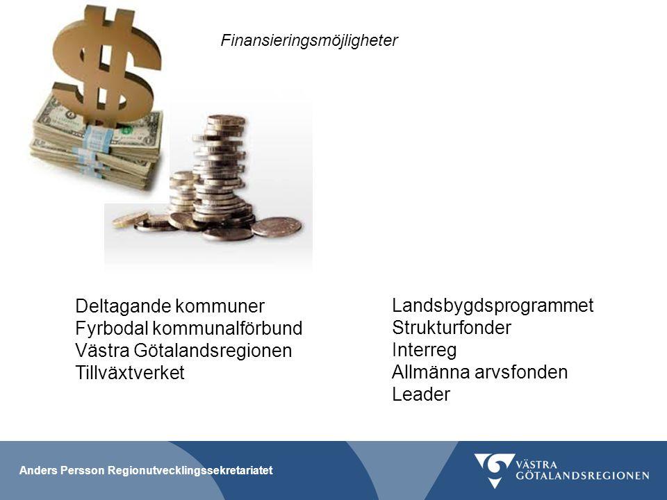 Fyrbodal kommunalförbund Västra Götalandsregionen Tillväxtverket