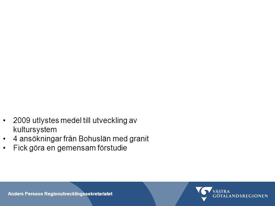 2009 utlystes medel till utveckling av kultursystem