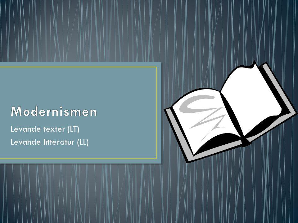 Levande texter (LT) Levande litteratur (LL)
