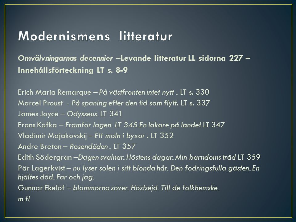 Modernismens litteratur