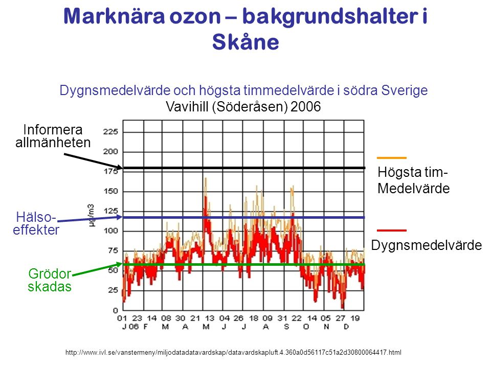 Marknära ozon – bakgrundshalter i Skåne