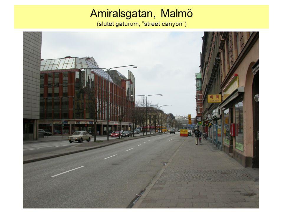 Amiralsgatan, Malmö (slutet gaturum, street canyon )
