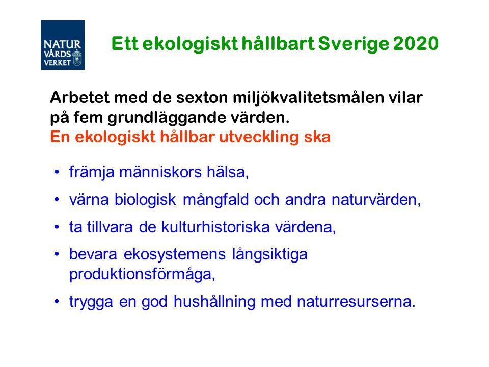 Ett ekologiskt hållbart Sverige 2020