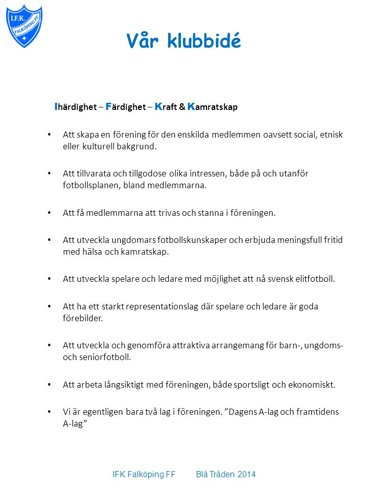 IFK Falköping FF Blå Tråden 2014