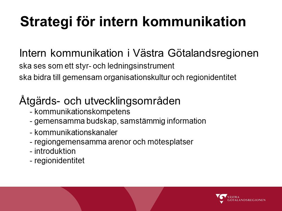 Strategi för intern kommunikation