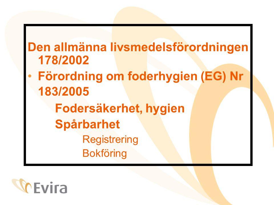 Den allmänna livsmedelsförordningen 178/2002