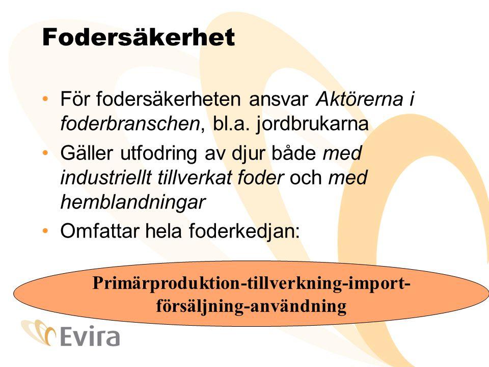 Primärproduktion-tillverkning-import- försäljning-användning